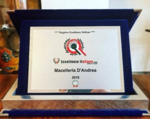 eccellenze italiane premio macelleria d'andrea